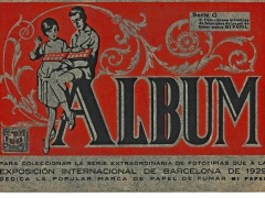 1929 cigarette papers album cover page