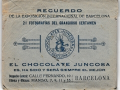 1929 Juncosa Chocolates souvenir wrapper