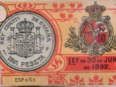 Interior label - coin (type 2)