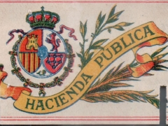 Interior label - Hacienda Pública 1908