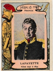 """Series 18 number 67 """"Lafayette, Francia"""""""