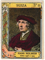 """Series 20 number 23 """"Hans Holbein, Suiza"""""""