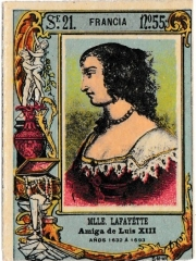 "Series 21 number 55 ""Mlle. Lafayette, Francia"""
