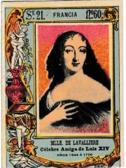 "Series 21 number 60 ""Mlle. de Lavalliere, Francia"""