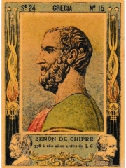 "Series 24 number 15 ""Zenón de Chipre, Grecia"""