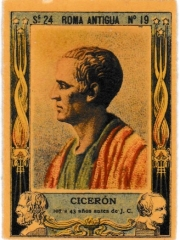 "Series 24 number 19 ""Cicerón, Roma Antigua"""