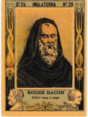 "Series 24 number 29 ""Roger Bacon, Inglaterra"""