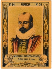 "Series 24 number 34 ""Miguel Montaigne, Francia"""
