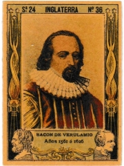 "Series 24 number 36 ""Bacon de Verulamio, Inglaterra"""