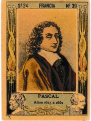 """Series 24 number 39 """"Pascal, Francia"""""""