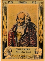 """Series 24 number 51 """"Voltaire, Francia"""""""