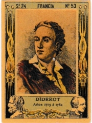 """Series 24 number 53 """"Diderot, Francia"""""""
