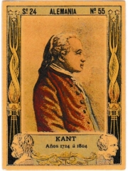 "Series 24 number 55 ""Kant, Alemania"""