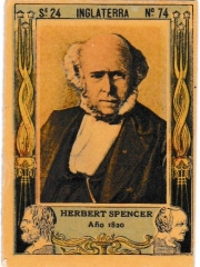 "Series 24 number 74 ""Herbert Spencer, Inglaterra"""