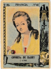 """Series 25 number 68 """"Condesa du Barry, Francia"""""""