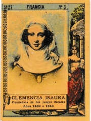 """Series 27 number 3 """"Clemencia Isaura, Francia"""""""