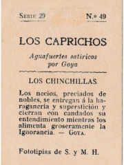 """Series 29 number 49 back """"Los chinchillas"""""""