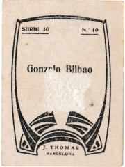"""Series 30 number 10 back """"Gonzalo Bilbao"""""""