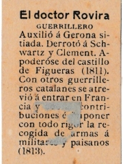 "Series 31 number 23 back ""El doctor Rovira, Guerrillero"""
