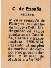 "Series 31 number 48 back ""C. de España, Militar"""