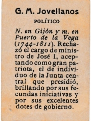 "Series 31 number 8 back ""G. M. Jovellanos, Político"""