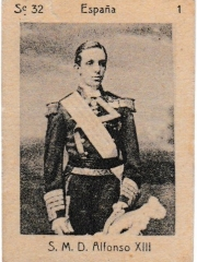 """Series 32 number 1 """"S. M. D. Alfonso XIII, España"""""""