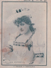 """Series 4 number 52 """"Lillian Russell"""""""